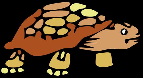 500x274 Vector Clip Art Of Old Brown Tortoise Public Domain Vectors