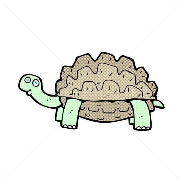 600x600 Comic Cartoon Tortoise Vector Illustration Lineartestpilot