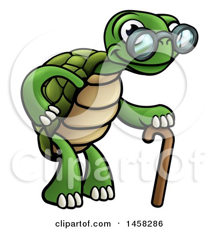 450x470 Brown Tortoise With A Dark Shell Clipart Illustration Image By