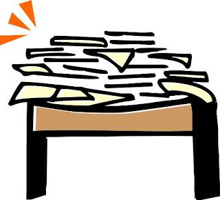320x290 Desk Clipart Cluttered Desk