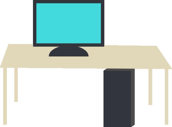600x444 Nice Ideas Clip Art Computer Desk Vector Royalty Free 18 586