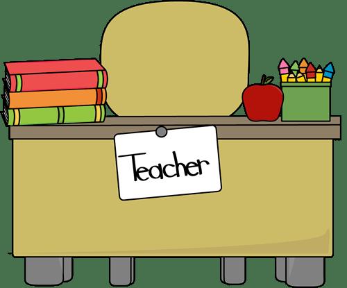 500x415 Teacher's Desk Clip Art Teacher's Desk Vector Image, Teacher Clip