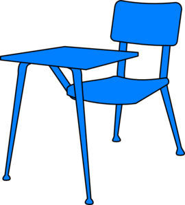 270x298 Blue Desk Clip Art