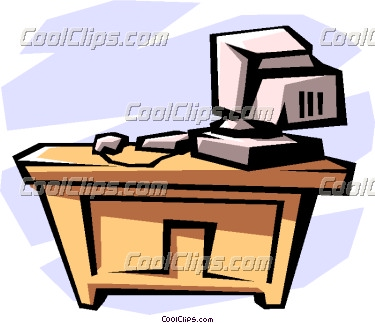 375x323 Desk Clip Art Clipart Panda
