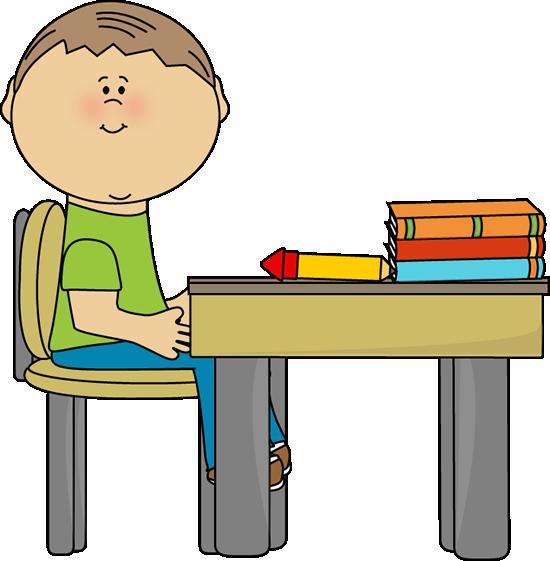 550x561 Desk Clipart School Boy