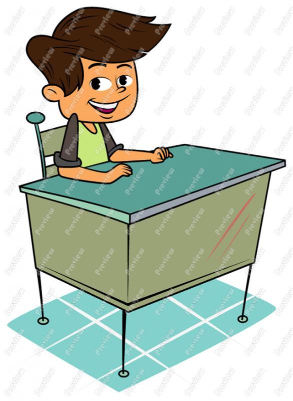 586x800 Boy At Desk Clipart School Clip Art