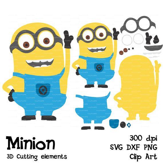 570x570 Minions Despicable Me Svg, Dfx, Png Cutting File Silhouette Clip
