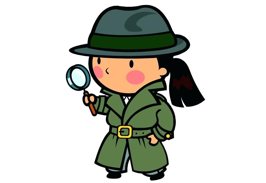 900x620 Detective Magnifying Glass Stock Image Young Detective With Pipe