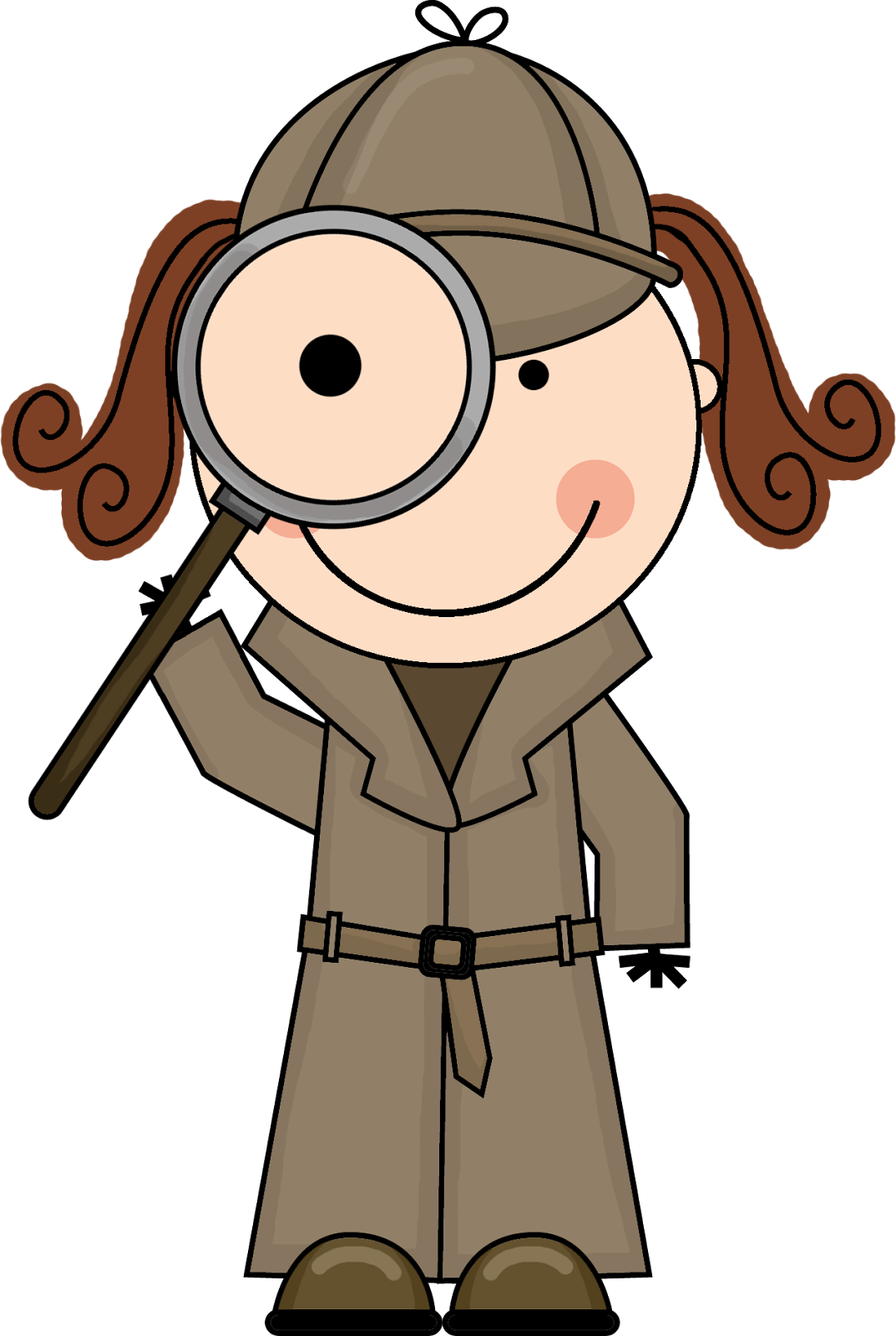 1073x1600 Kid Detective Clipart