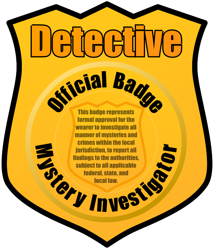 686x800 Detective Badge By Eady