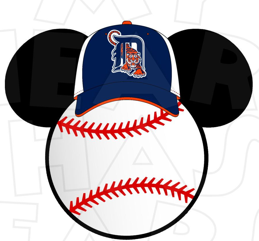 900x838 Detroit Tigers Baseball With Mickey Mouse Instant Download Digital
