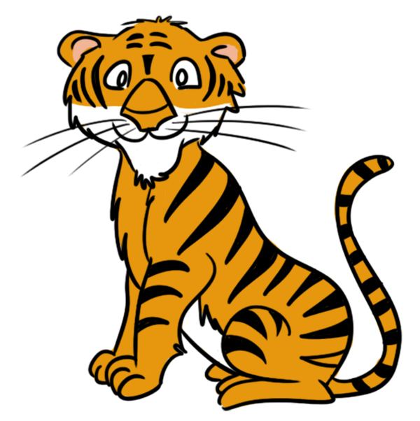 600x602 Free Clipart Of Tigers