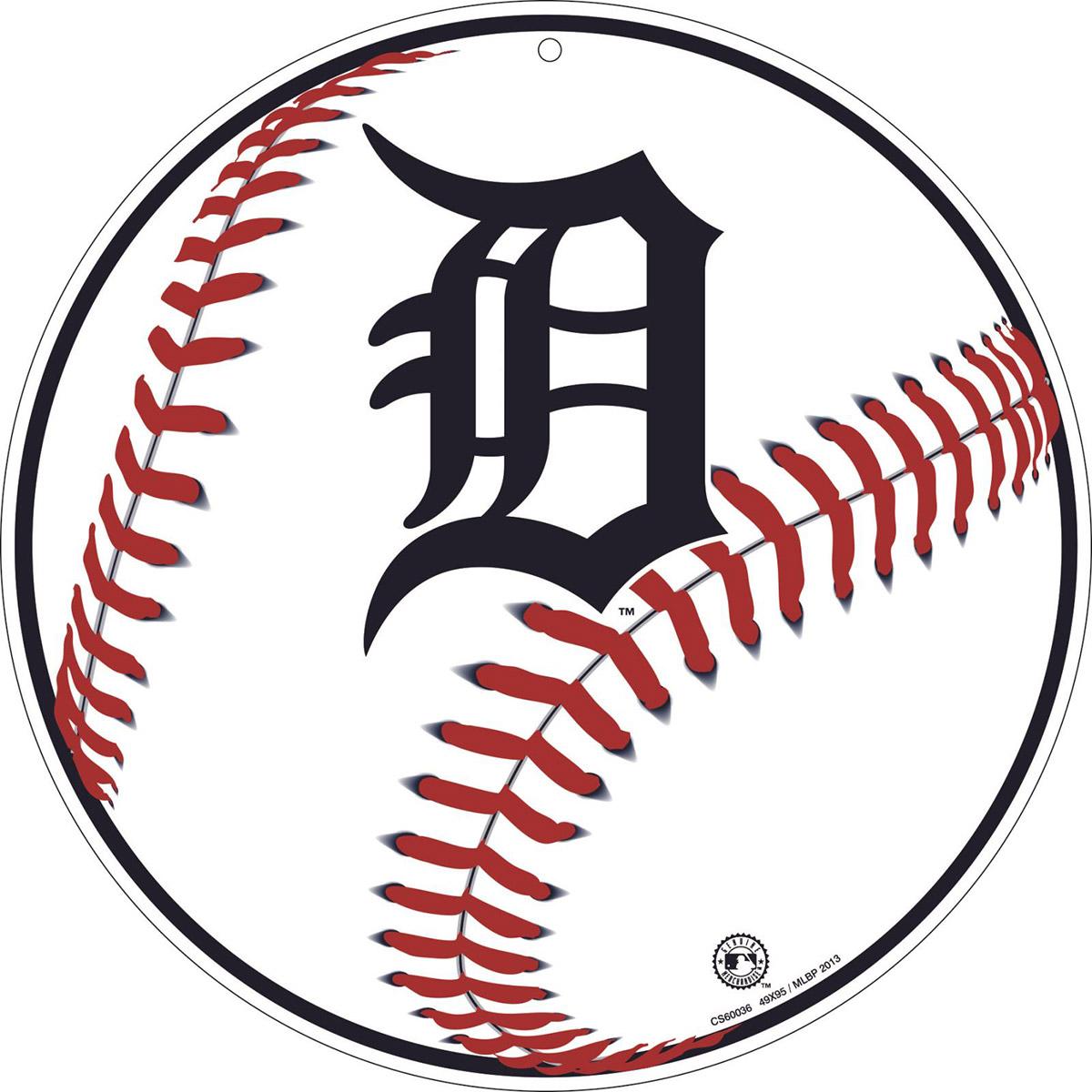 1200x1200 Detroit Tigers Baseball Logo Metal Sign Sports Team Decor