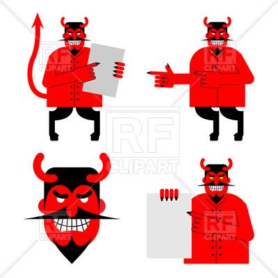 400x400 Set Of Satan And Devil Royalty Free Vector Clip Art Image
