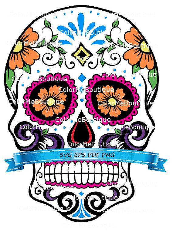 570x775 Dia De Los Muertos Skull Clipart
