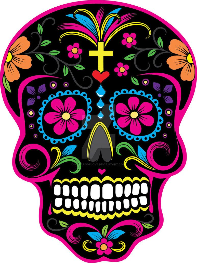 773x1032 Dia De Los Muertos Skull 2 By