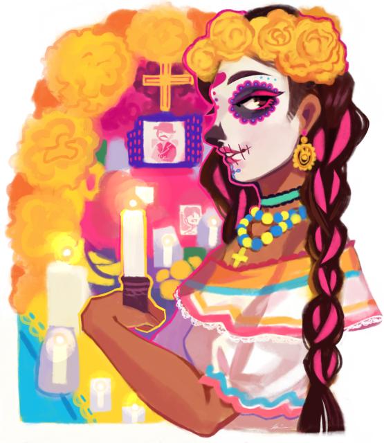 555x640 Dia De Los Muertos Celebrations Bring Ancestors, Traditions Back