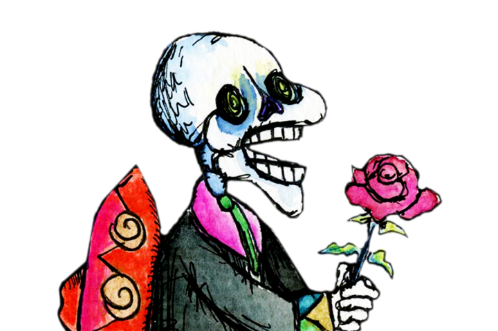 720x479 Mexico Day Of The Dead Dancer Mariachi Skeleton Hand Drawn Clip