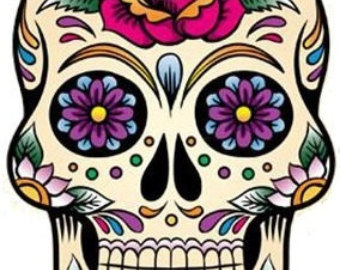 340x270 Skull Rubber Stamp Day Of The Dead Dia De Los Muertos Stamp