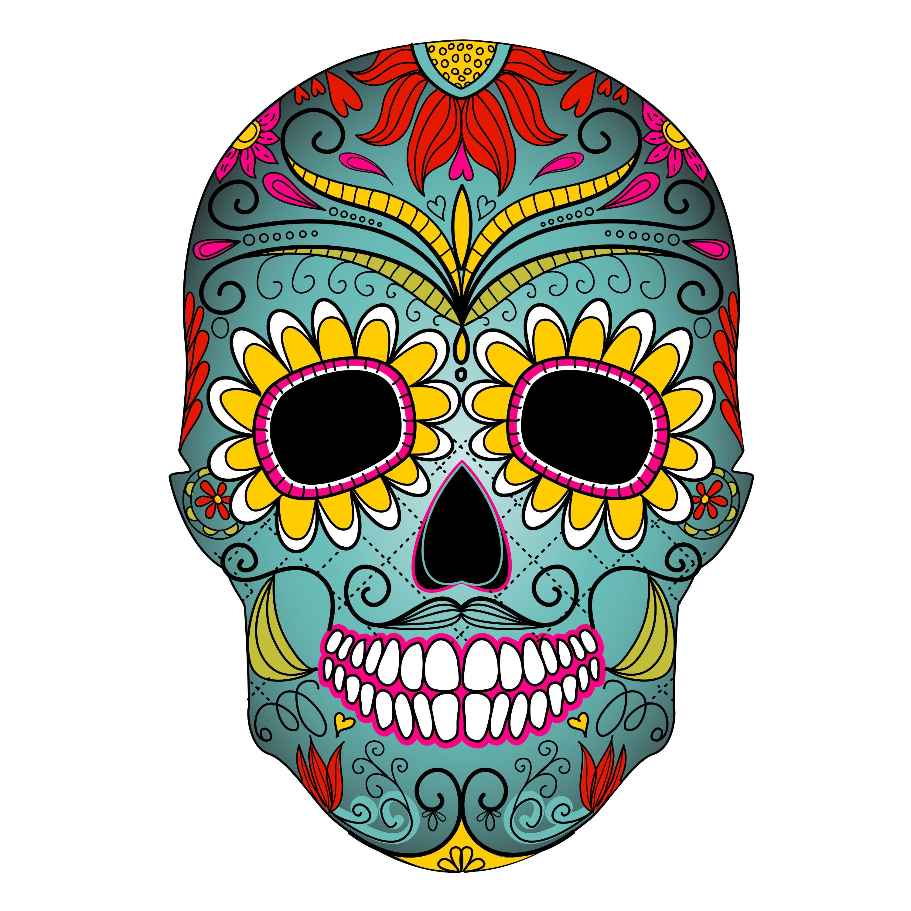 3000x3000 Day Of The Dead Clipart