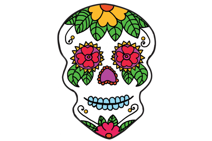 720x479 Day Of The Dead Skull Clip Art. Day Of The Dead Clipart
