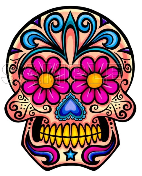 480x595 Day Of The Dead Iron Ons