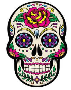 236x298 Collection Of Colored Sugar Skull Drawing High Quality, Free