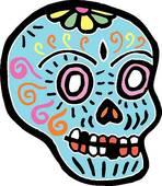 148x170 Dia De Los Muertos Skull Clipart Collection