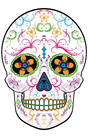 354x550 Love The Colors In This Sugar Skull. It Would Be Perfect On My