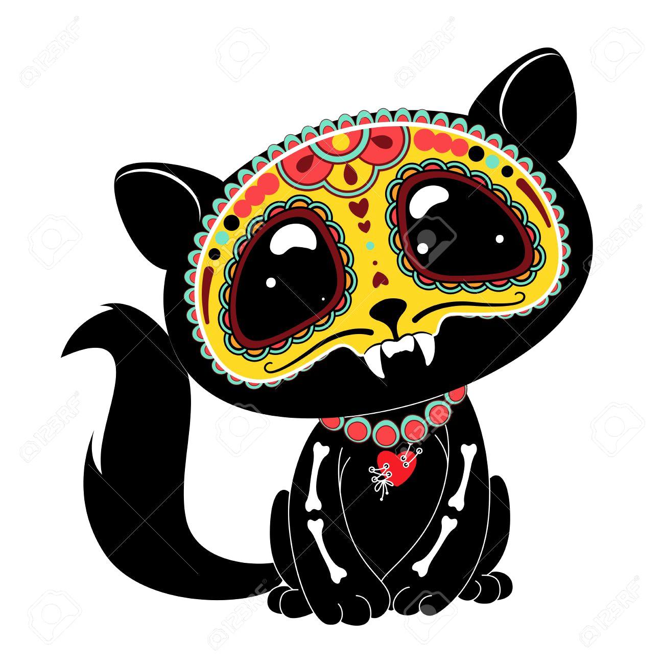 1300x1300 Mexican Retro Sugar Skull Dia De Los Muertos Icons Set Vintage