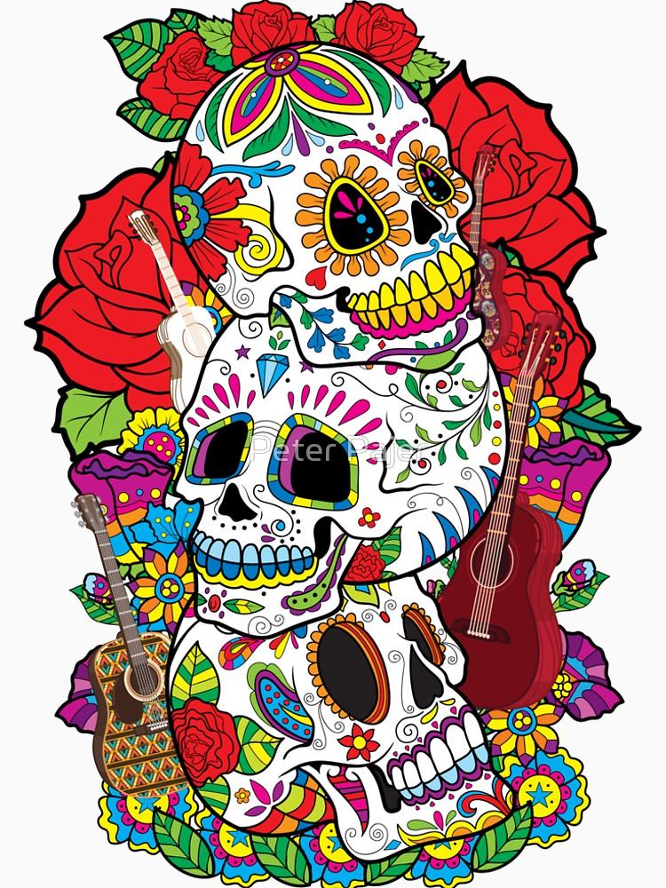 750x1000 Sugar Skulls Day Of The Dead Dia De Los Muertos T Shirt Women'S
