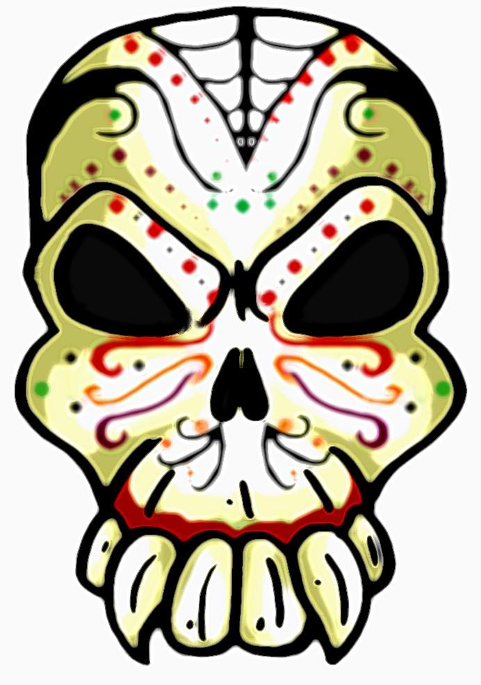 692x984 Angry Skull