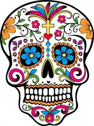 318x425 Day Of The Dead Skull Free Vector For Free Download (About 2 Files