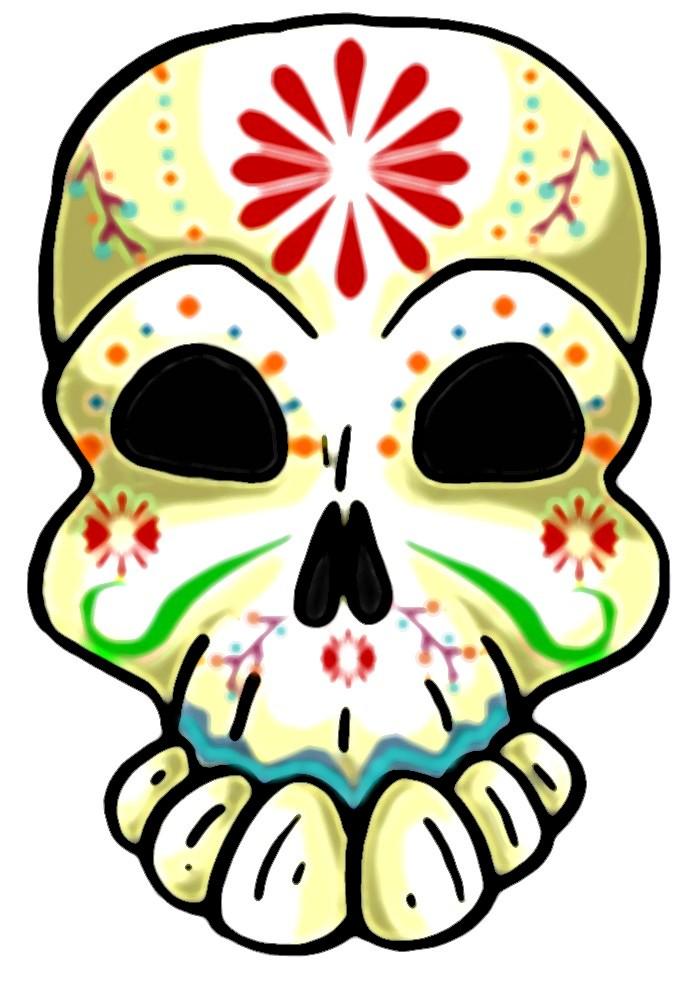 692x984 Happy Skull