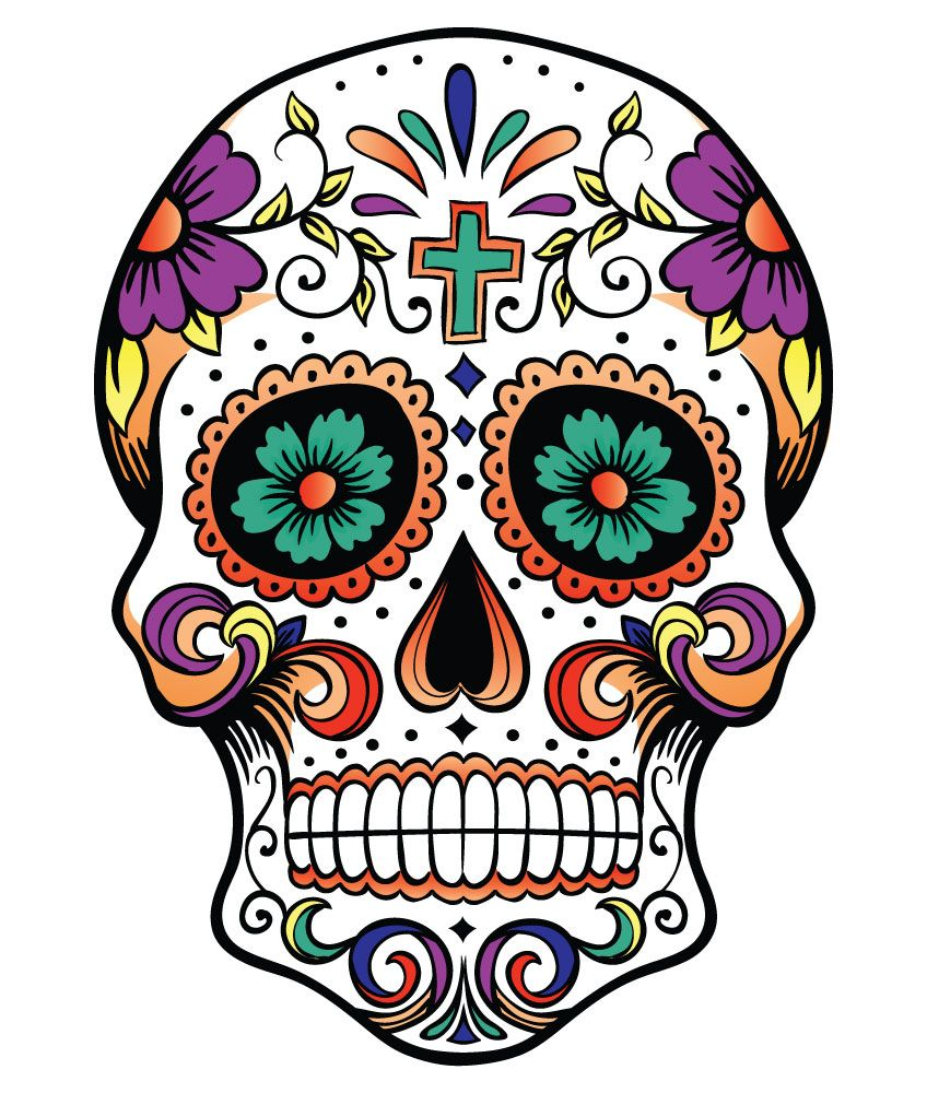 848x1000 Day The Dead Coloring Page. Day Dead Sugar Skulls. Day