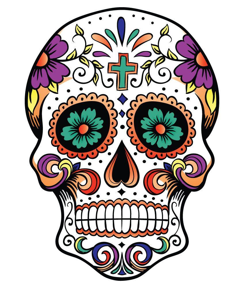 Dia De Los Muertos Skull Clipart at GetDrawings   Free ...