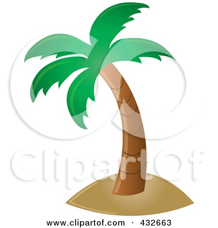 450x470 Royalty Free Vector Clip Art Illustration Of A Scenic Beach View