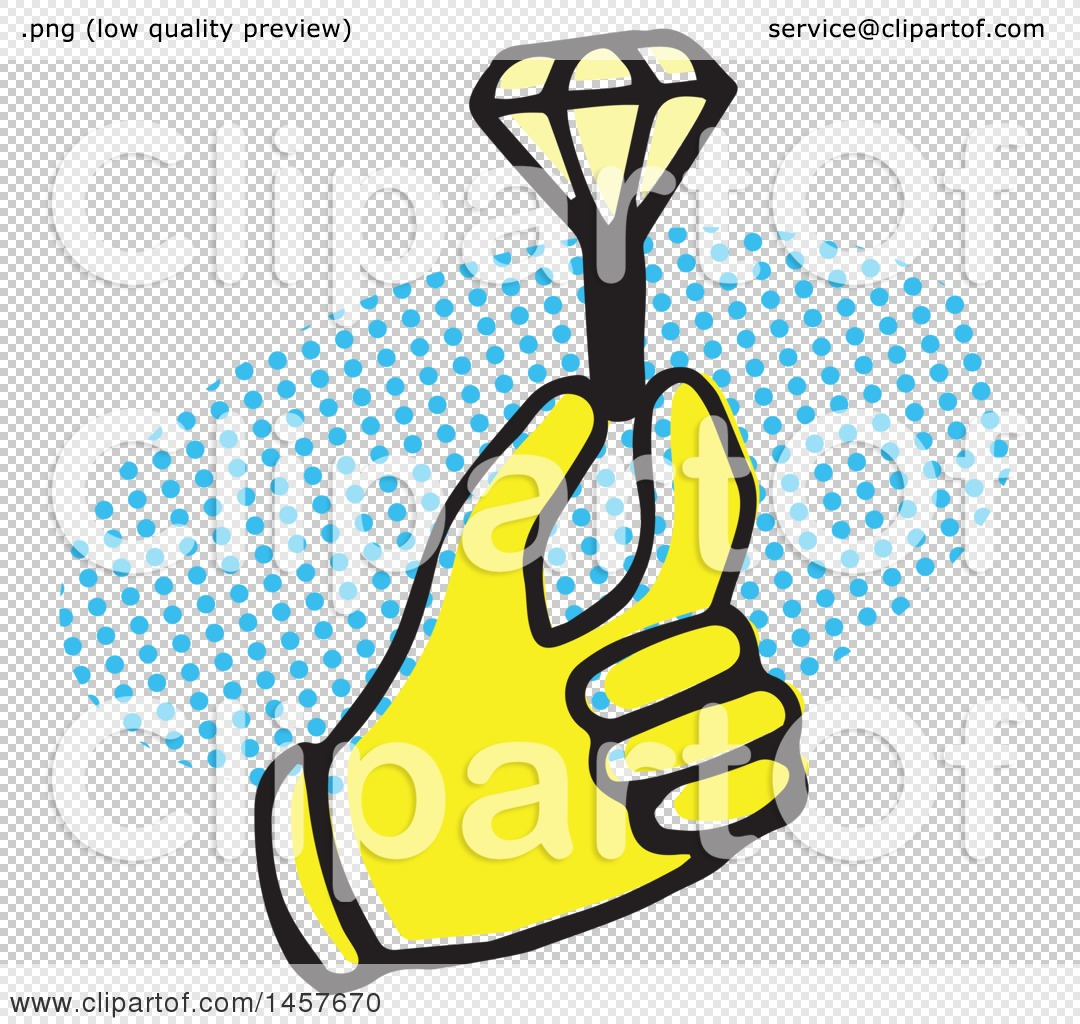 1080x1024 Clipart Of A Pop Art Styled Yellow Hand Holding A Diamond Ring