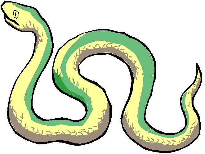 661x496 Water Snake Clipart