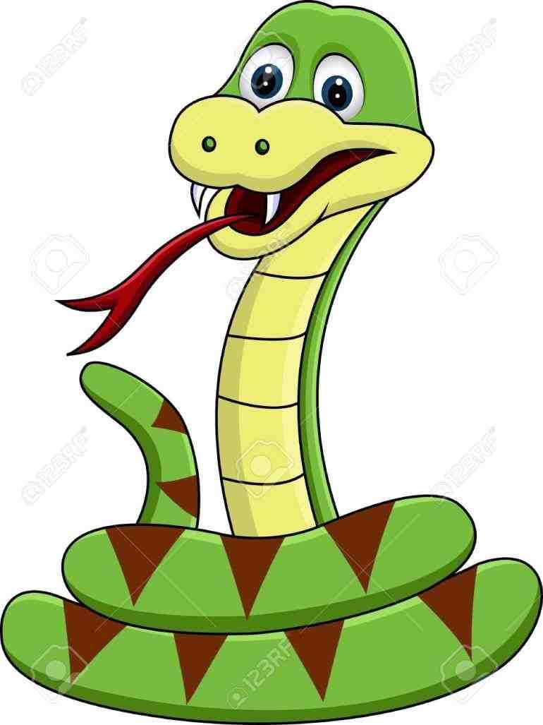 770x1027 Sleeping Snake Clipart Elf Colored Cartoon Illustration Vector