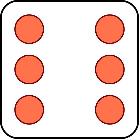 557x557 8 Dots Dice Clipart
