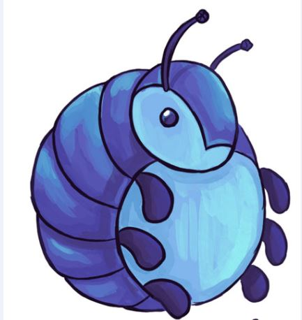 433x458 Bug Clipart Roly Poly