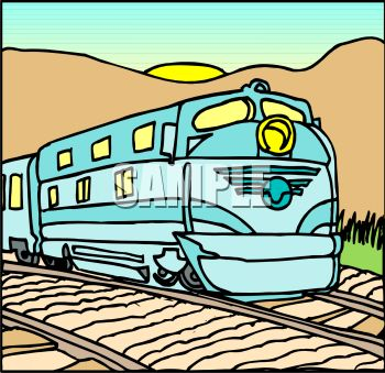 350x339 Royalty Free Clip Art Image A Diesel Electric Passenger Train
