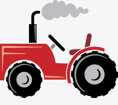400x356 Cartoon Tractor, Smoke, Wheel, Diesel Fuel Png Image And Clipart