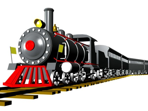600x450 Model Railway Clipart