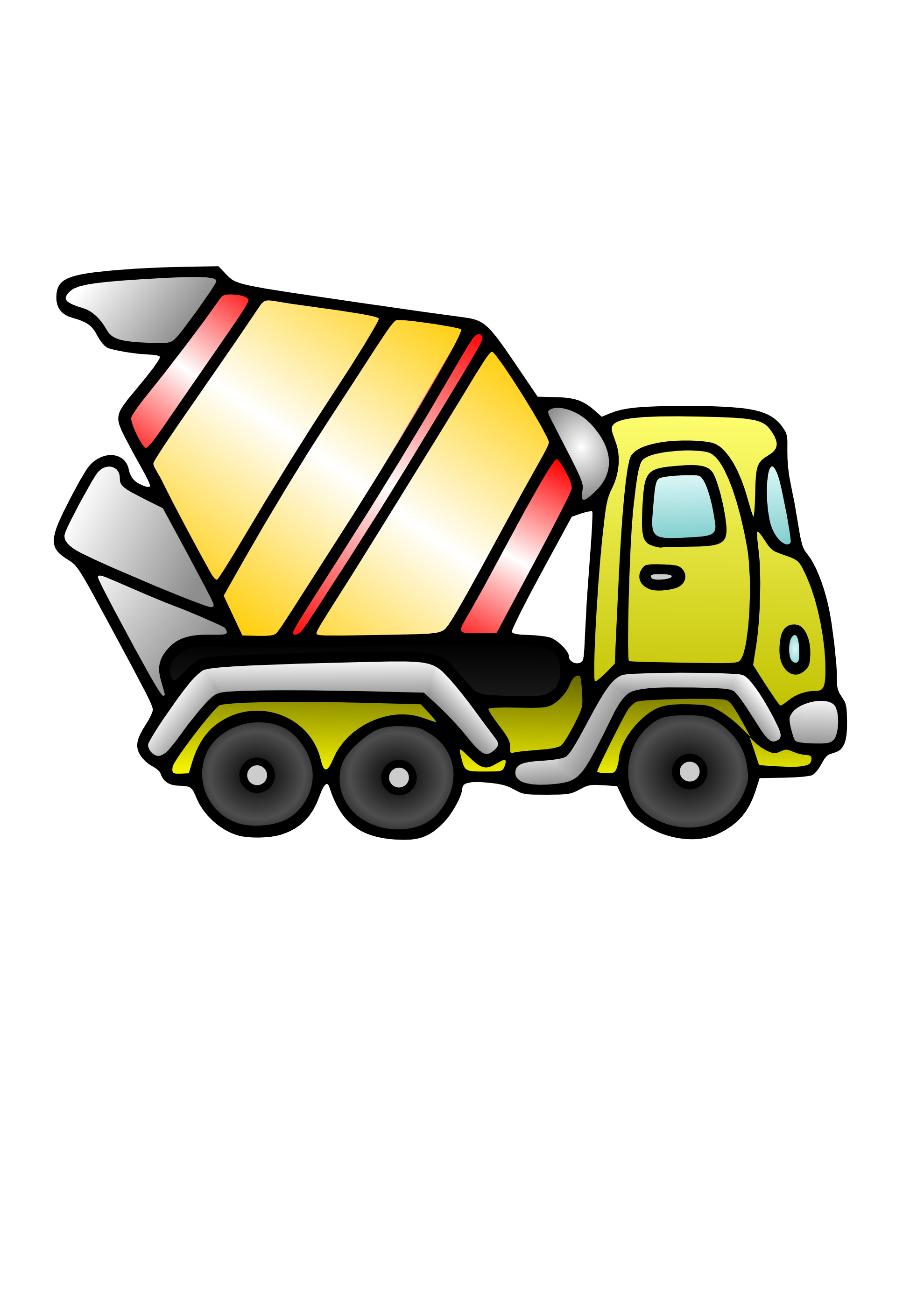 1979x2799 Clip Art Concrete Truck Clip Art