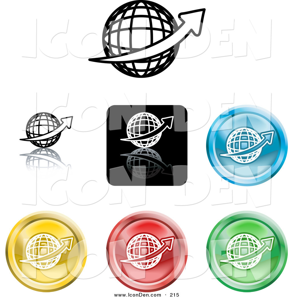 1024x1044 Clip Art Of A Collection Of Seven Different Colored Globe Icon
