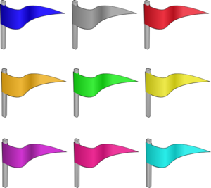 300x267 Different Colored Flags Clip Art