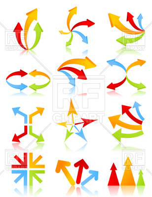 308x400 Different Kinds Of Arrows Royalty Free Vector Clip Art Image