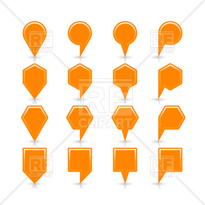 400x400 Map Markers Of Different Shapes Royalty Free Vector Clip Art Image